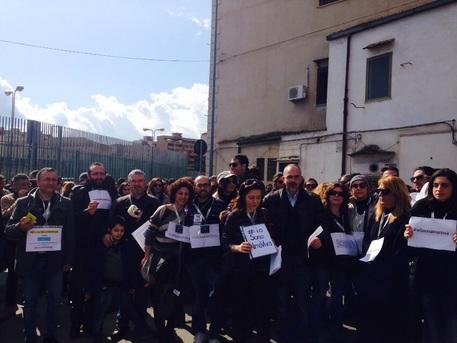 Lavoratori Almaviva protestano