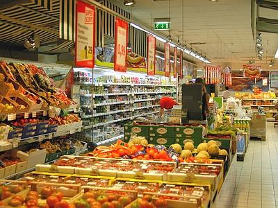Roma, 4 luglio 2007 . Supermercato