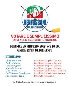 Forza Italia 25 febbraio