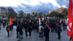 La manifestazione in piazza Castelnuovo (1)-2